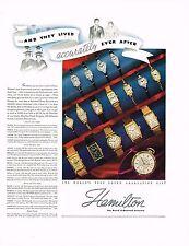 1936 BIG Vintage Hamilton Wrist Watches Watch Models Names Prices Photo Print Ad