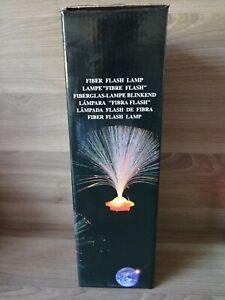 2 Fiberglas Lampen blinkend Glasfaserlampe, Dekoleuchte