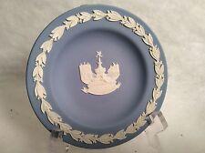 """Vintage Wedgwood Blue Jasperware Piccadilly circus sauser 4-1/2"""""""