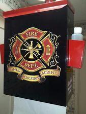 FIREMANS MALTESE DELUXE RETRO VINTAGE GARAGE MANCAVE TOWEL BOX
