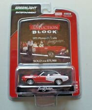 Greenlight Auction Block 1971 Plymouth 'Cuda Red 440 Convertible 1:64 NIP Ser.12
