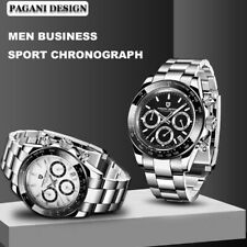PAGANI DESIGN Brand 10 ATM Waterproof Chronograph Mens Japan Quartz Wrist Watch