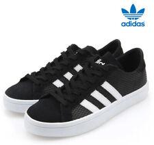 uk size 8 - adidas court vantage w unisex trainers - black - bb5205