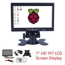 """7"""" 12 V Couleur TFT LCD HDMI VGA AV 1024x600 Moniteur Écran HD Voiture Affichage + Remote"""