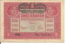 AUSTRIA, 2 KRONEN, P#50, 1917