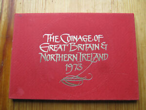 Royal Mint 1973 coinage of Great Britain decimal proof coin set