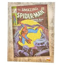 Artissimo Marvel Comic Cover Spider-Man Wanted Wall Art Canvas Painting 11x14