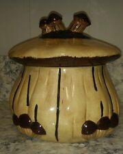 Large Vintage Ceramic Mushroom Cookie Jar 1972 Signed Art Pottery Psychedelic
