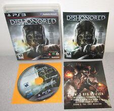 DISHONORED PlayStation 3 PS3 Bethesda Arkane Studios Thriller Orig Black Label