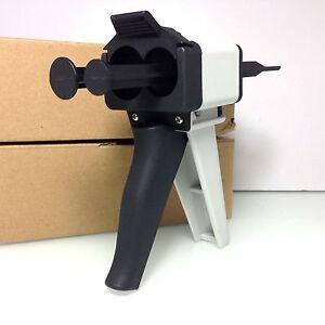 Dental Impression Mixing Silicone rubber tray Dispenser Gun 50ml Dispensing 1:1