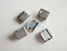 5X Micro USB Type A Female jack 180° DIP 5 Long Pin Socket Soldering Connector