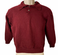 Pronto Uomo Marron Top 3/4 Sleeves 2-Buttoned Polo Pullover Sweater size 2XL