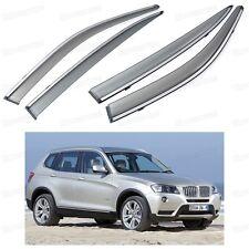 Front & Rear Window Visor Deflectors Vent Shade for BMW X3 2011-2016 12 13 14 15