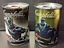 2 Limited Edition Avengers Black Panther movie Campbell's Soup SEALED campbell