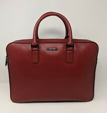 New Michael Kors ANDY Large Briefcase - Cardinal Red Leather * 37T6SANA3L