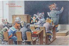 2331 AK Arthur Thiele Katzen Schule Unterricht 1917 PC