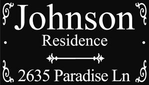 Address Sign Personalized Custom made aluminum plaque House Home