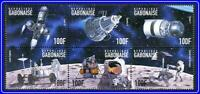 GABON = ASTRONOMY / RUSSIA & USA in SPACE x6 STAMPS MNH ** neuf