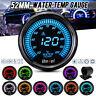 2'' 52mm 10 Colors LED Digital Water Temp Temperature Gauge Car Meter 20-120℃ _