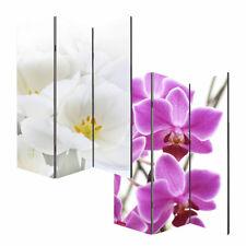 Foto-Paravent Paravent Raumteiler M68, 3 Panels, 180x120cm ~ Orchidee