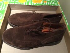 Sportscraft Brown Suede Leather Mens Shoes - Mens Size 43 - Made In Italy