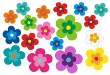 Mini Hippie Blumen Auto Aufkleber: Mini 15 - 51 Stk. - bunt gemischt