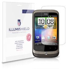 iLLumiShield Phone Screen Protector w Anti-Bubble/Print 3x for HTC Wildfire