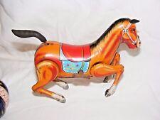 Vintage Daiya Japon fer-blanc Clockwork cheval C S Ranch Jouet Wind Up
