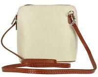 Women's Genuine Italian Real Leather Small/ Mini Classic Cross Body bag