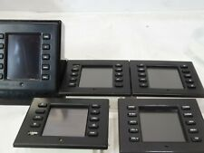 Lot of (5) Crestron Ct-1000 In-Wall Touchscreen panels W/ black bezels Ct1000