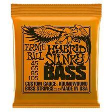 Ernie Ball Hybrid Slinky Nickel Wound Electric Bass Guitar Strings Gauge 45-105