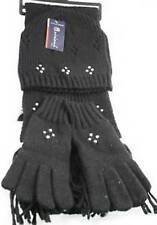 1 Women's Pearls/Flowers Scarf+Hat+Gloves Set 8 Colors