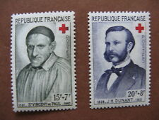 FRANCE neufs n° 1187 - 1188  Croix-Rouge (1958)