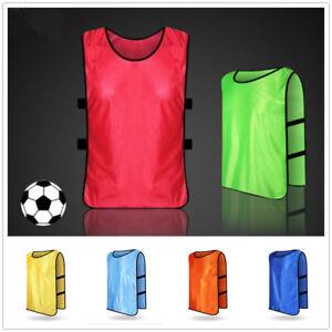 Kids Adult Sports Soccer Football Basketball Vest TRAINING BIBS Spring Summer