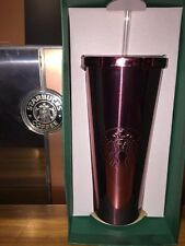 Starbucks stainless Steel High Shine Pink Cold Cup Ltd Ed TUMBLER 24fl oz NEW!!!