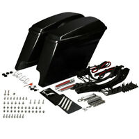 Extended Unpainted Saddlebags Fit For Harley Road Glide Street Glide 2014-2018