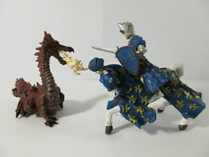 PAPO Fantasy Action Figures KNIGHT ON HORSE, PRINCE PHILLIP vs. RED DRAGON