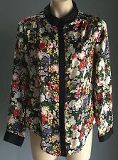 Stand Out UK Brand NEW LOOK Multi Colour Floral Print Long Sleeve Shirt Size 10