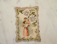 """Antique Card """"May Every Joy Attend My Darling"""""""