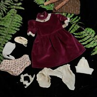 Lot of vintage doll clothing
