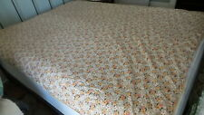 """Antique DUVET COVER, FEATHER TICK COVER Yellow & White Daisies, 80""""x68"""", Bias"""