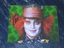 Johnny Depp Autographed Mad Hatter Alice In Wonderland