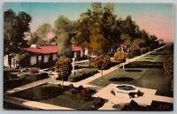 Chandler Arizona~San Marcos Hotel & Bungalows~Garden Pool~1920s Handcolored