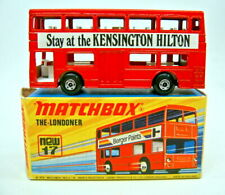 "Matchbox SF Nr.17B The Londoner rot ""Kensington Hilton"" rares Werbemodell + Box"