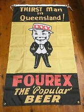 Huge old fourex Qld mancave bar flag 5x2 ft man cave bar ware pool room xxxx