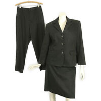 Vintage 90's Michele Polka Dot Black White Blazer Skirt Pants Suit 3Pc size 8