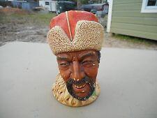 Vintage England Himalayan Man Bosson Head Bust Figure Chalkware
