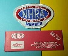 RARE VINTAGE 1990's NHRA DRAG RACING MEMBERSHIP PACK STICKER PATCH CHECKBOOK ECT