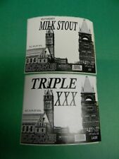 New listing Rare Older Triple Xxx Beer Sexual Innuendo Label Paper City Holyoke, Ma. Riley'S