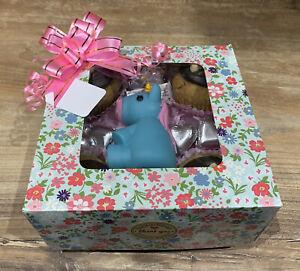 Birthday Cupcake Treat Dog Gift Box, Handmade Chocs, Scone Cakes, & Unicorn Toy